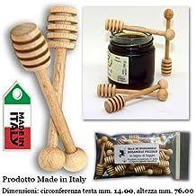 Stock 20 SPARGIMIELE DOSAMIELE PICCOLO in legno di faggio. Prodotto e costruito in Italia artigianalmente