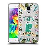 Head Case Designs T-Rex Seelen Tiere Abbildungen Soft Gel Hülle für Samsung Galaxy S5 Mini