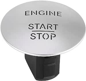 Keyless Go Start Stop Taste Keyless Go Start Stop Taste Motor Zündschalter Für 2215450714 33161207 Silber Auto