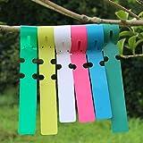 #6: Generic 100pcs PVC Greenhouse Gardening Plant Stake Hanging Collar Tag Label Yellow
