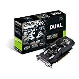 ASUS Dual GeForce GTX 1050 GeForce GTX 1050 2GB GDDR5 - Tarjeta gráfica (GeForce GTX 1050, 2 GB, GDDR5, 128 bit, 7680 x 4320 Pixeles, PCI Express 3.0)