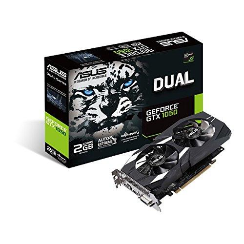 ASUS Dual GeForce GTX 1050 GeForce GTX 1050 2GB GDDR5 - Tarjeta gráfi