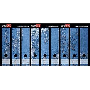 colore viola Set di 9 etichette autoadesive per raccoglitori