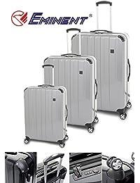 Eminent - Juego de maletas  unisex adulto plateado plata platinum large/Medium/Cabin Size