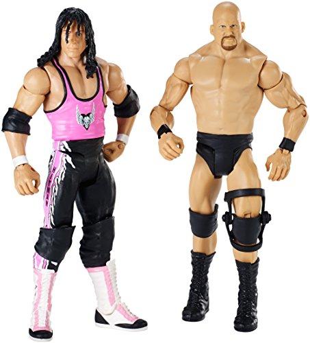 WWE: Wrestle Mania - Stone Cold Steve Austin vs Bret Hart Action Figure confezione da 2