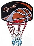 Basketballboard ABA Basketballkorb mit Netz Basketball Backboard für Kinder Basketballbrett inklusive Korb und Netz Basketballring Indoor (Ball)