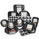 Get Goods Set di 14–Get merci facile da forno antiaderente–Set di teglia da forno in acciaio al carbonio,