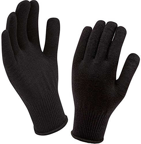 SealSkinz Handschuhe Merino Liner, Black, One Size