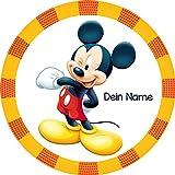 Tortenaufleger Mickey Mouse1 mit Wunschtext / 20 cm Ø