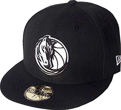 New Era Dallas Mavericks Black White Logo Cap 59fifty 5950 Fitted NBA Limited Edition -