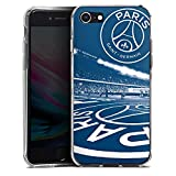 DeinDesign Apple iPhone 8 Coque en Silicone Étui Silicone Coque Souple Paris Saint-Germain PSG Parc des Princes