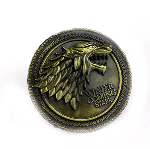 SHOPTOSHOP Golden Game of Thrones House of Stark Sigil Direwolf Winter Is Coming Key Cases