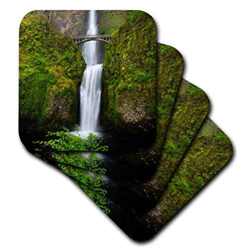 3dRose CST_207880_3 USA Oregon Columbia Gorge Multnomah Falls Keramikfliesenuntersetzer (4 Stück) Cst Fall