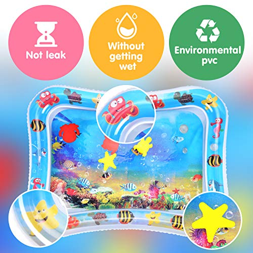 Victostar Inflatable Water Play Mat, Baby Water Mat Tummy Time Activity Center, Indoor and Outdoor Pad Infant Toys