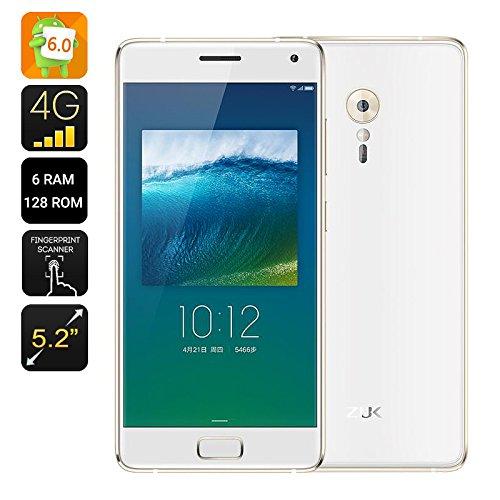 Lenovo ZUK Z2 Pro Smartphone - 5.2 pollici, 6 GB di RAM + 128GB di memoria, Android 6.0, Snapdragon 820 64Bit CPU, USB Tipo C (Bianco)