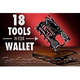 Gadget Hero'sTM Wallet Ninja 18-in-1 Survival Tool Kit Multifunction Credit Card Style