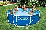intex metal frame pool mit filteranlage beispiel