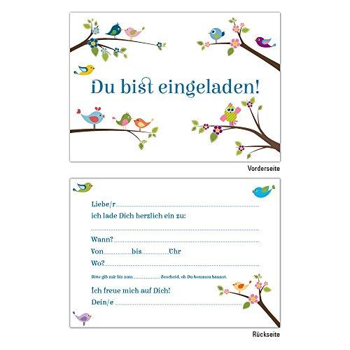 6 Einladungskarten DIN A6 Einladungskarten