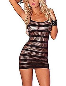 KENROLL Mujer Lencería encaje Ropa Interior Corset Uniforme Cosplay Disfraz Clubwear Danza Vestido Falda Body