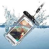 Sunroyal Wasserdichte Handyhülle Tasche Beutel, IPX8 (20m Tiefe), für iPhone X 8 Plus 7 6 6S, Samsung Galaxy S9 Plus S8 S7 S6 Edge S5 Note 8 J3 J5 J7 2017 A8 2018, Huawei P20 Lite Pro P10 P9 P8