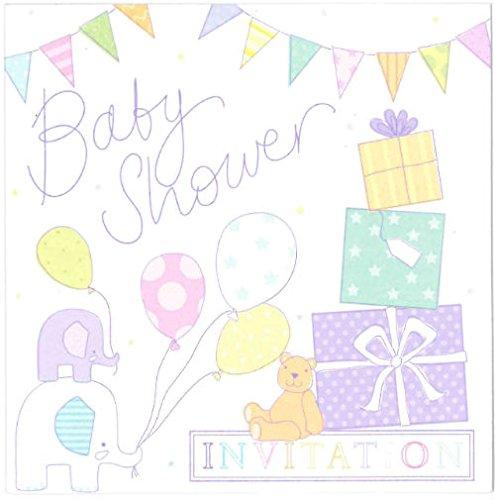 6Stück Simon Elvin Baby Dusche Einladungen Karten-Cute Pastel Design-dp291N