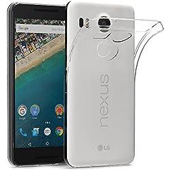 AICEK Coque Nexus 5X, Etui Silicone Gel LG Nexus 5X Housse Antichoc Google Nexus 5X Transparente Souple Coque de Protection pour Nexus 5X(5.2 Pouces)