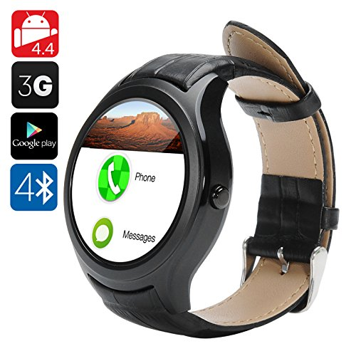 NO.1 D5 Android Smart Watch - Wi-Fi, 3G SIM, BT4.0, Google Play,...