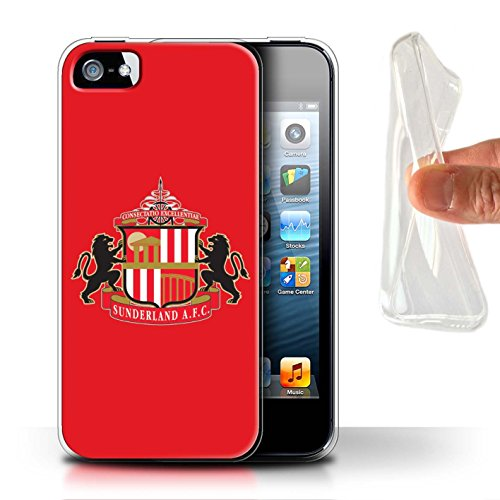 Offiziell Sunderland AFC Hülle / Gel TPU Case für Apple iPhone SE / Pack 6pcs Muster / SAFC Fußball Crest Kollektion Rot
