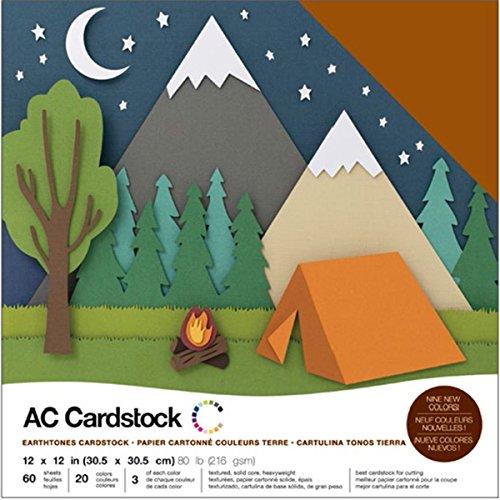 American Crafts 37698960Bogen Erdtöne grußkartenkarton Pack, 12durch 30,5cm -