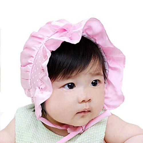 Evansamp Neugeborene Baby Mützen, Infant Mädchen Boy Summer Sun Polka Dots Schleife Beanie Hat Cap 2-12Monate, Kinder, rose Butterfly Beanie Baby