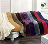 Exclusive Microfaser Decke Cashmere Feeling anthrazit