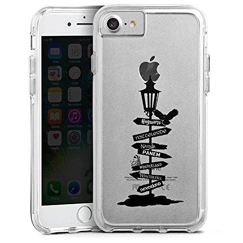 Apple iPhone 6s Plus Bumper Hülle Bumper Case Glitzer Hülle Wegweiser Filme Transparent Bumper Case transparent