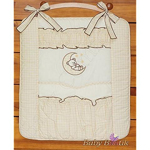 Nursery Baby lettino Organizer per culla o lettino Bear Moon, colore: panna