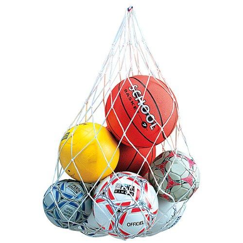 EDUPLAY 170-133 Ballnetz, Fußballnetz, Aufbewahrung, weiß (1 Stück)
