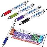 5 Stücke Chemie Elemente Periodensystem Kugelschreiber mit 2019 und 2020 Kalender Periodensystem Referenz Blatt für Studenten Lehrer Kreative Geschenke