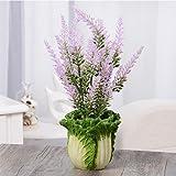 KQS-XYT Künstliche Topfpflanzen Lavendelpflanzen für Haus- und Bürodekorationen, einschließlich Töpfe und Pflanzen