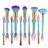 Kanpola Makeup Pinselset 10Pcs Meerjungfrau Nylon Faser Make Up Foundation Eye Shadow Eyeliner Pinsel Sets (I)