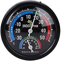 Everpert - Termómetro para Tanque de Reptiles, higrómetro, Repelente del Viento, Caja de cría combinada con termómetro de dial, medidor de Humedad (higrómetro)