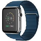 Apple Watch Strap, JETech 42mm Echtes Leder-Schleife mit Magnet-Verschluss Bügel Uhrenarmband für...