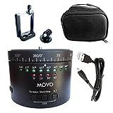 Movo Photo MTP-11 motorisiertes Zeitraffer Stativ mit einstellbarer Geschwindigkeit, Zeit und Richtung mit eingebauter wieder aufladbarer Batterie - Für DSLR Kameras, Go Pro und Smartphones