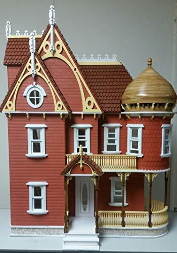 Melody Jane The Hannah Victoriana Mansion Muñecas Casa con Torreta Paquete Plano Corte Láser Kit