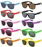 FSMILING Nerd Party Sonnenbrille UV400 Retro Design Stil Unisex Brille (Stück Mehrfarbig Brillen)