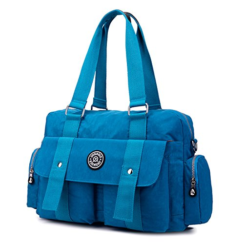 SUXCGE NylonBag, Borsa a spalla donna Rose Red 02 taglia unica Sea Blue 09