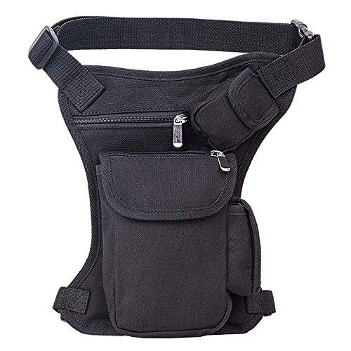 ZHANGRONG- Outdoor Männer Und Frauen Taschen Sport, Der Eine Multifunktions-Taille Trägt Männliche Tasche Beiläufige Segeltuchbeutel Gamaschen Handytasche (Mehrfache Farben Vorhanden) 3