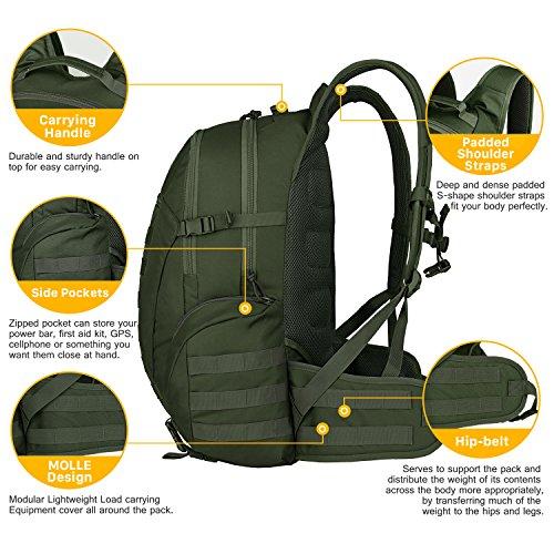 Mardingtop 35L Mochila Militar Tactical Trekking Mochilas Al Aire ... 1beee7b9c4515