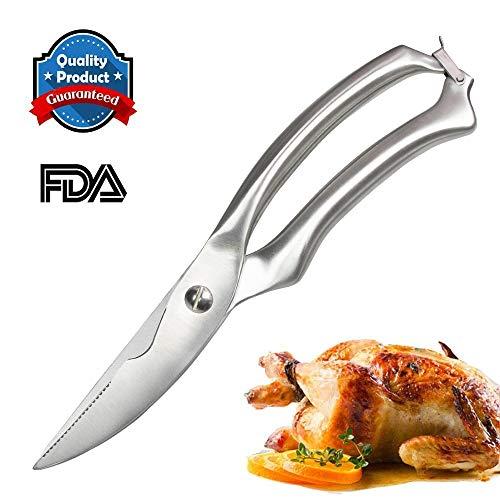 Forbici da cucina - resistenti in acciaio inox - forbici da taglio multifunzionali per osso di pollo, pizza, carne, verdura, barbecue e altro.
