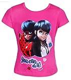 MIRACULOUS LADYBUG Camiseta de Manga Corta - para Niña Rosa Rosa 4 Años