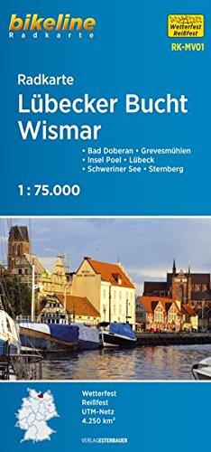 Radkarte Lübecker Bucht Wismar (RK-MV01): Bad Doberan - Grevesmühlen - Insel Poel - Lübeck - Schweriner See - Sternberg (Bikeline Radkarte)