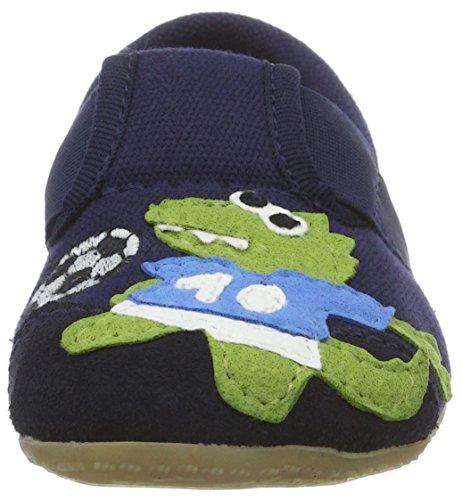 Living Kitzbühel Jungen T-Modell mit Fußballer Pantoffeln Blau (Marine)