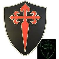 Glow Dark Order Santiago St. James Cross Cruz Templar Crusaders Morale PVC 3D Touch Fastener Patch